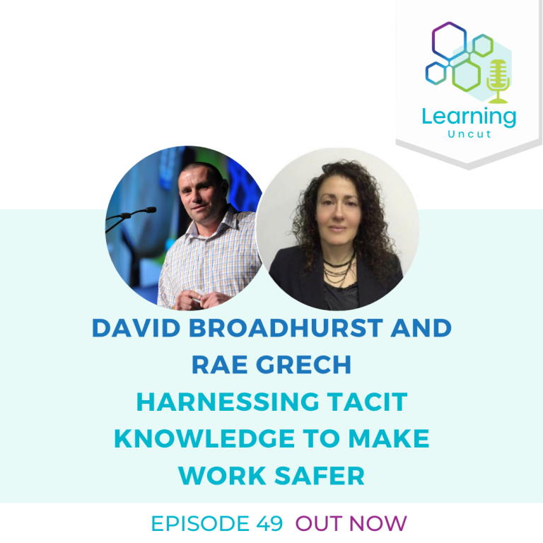 49: Harnessing Tacit Knowledge to Make Work Safer - David Broadhurst and Rae Gretch