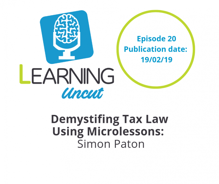 20: Demystifying Tax Law Using Microlessons - Simon Paton